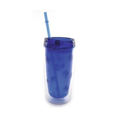 Image of 450ml Double Waled As Plastic Tumber With Straw