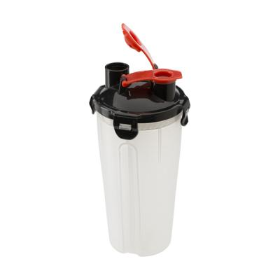 Image of Plastic protein shaker (350ml) with two compartments.