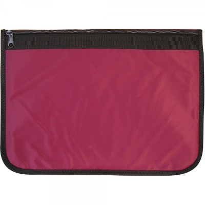 Image of Nylon Document Wallets - Burgundy / Black Edging