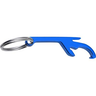 Image of Aluminium key chain with bottle opener and can opener